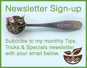 Karla's Specialteas Tips, Tricks & Specials Newsletter SignUp